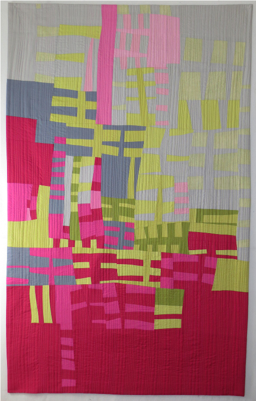 Then and Now, cotton, machine pieced and quilted, ©Aryana B. Londir 2016,  62