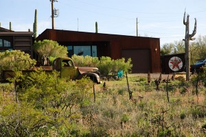 Exterior view of my Cactus Camp studio, taken from the driveway.